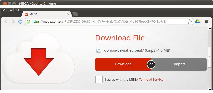 Using the Mega API: how to download a public file (or a file